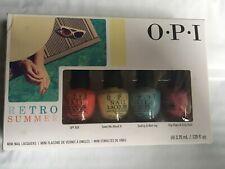 Opi Retro Summer Collection 2016 Mini Nail Lacquer 4 Piece Set New