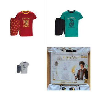 Girls Boys Harry Potter Shorts Short Sleeve Pyjamas Pj's Set Cotton Rich New