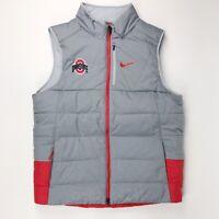 New Nike Men's Large Ohio State Buckeyes Team Sideline Football Vest Grey 865975