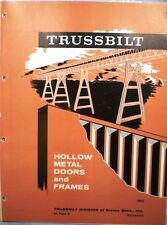 TRUSSBILT Siems Brothers Fireproof Fire Door ASBESTOS Catalog 1962