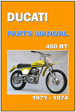 DUCATI Parts Manual 450 RT 450RT RT450 1971 Replacement Spares Catalog List