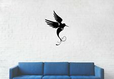 Humming Bird In Flight Décor Wall Art Sticker Vinyl Decal Transfer Bedroom