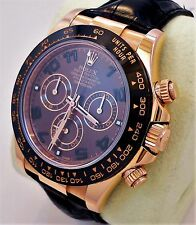 Rolex Daytona 116515 LN 18K Rose Gold Cosmograph Chocolate BOX/PAPERS *MINT*