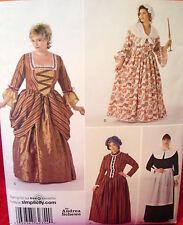 SEWING PATTERN Simplicity 2354 COLONIAL PRAIRIE PILGRIM Womens 18-24 Costume