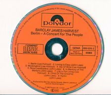 Barclay James Harvest CD Berlino © 1982 FULL RED First Press 800 026-2 POLYDOR
