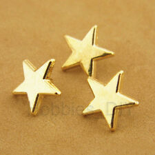 30pcs 60pcs 100pcs Gold Star Shape Metal Shank Buttons Sewing Craft DIY 11mm 18L