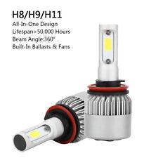 2P H8/H9/H11 All-in-One LED Lámpara Faro Kit 72W 8000LM COB Bulbo 6000K BS6 A