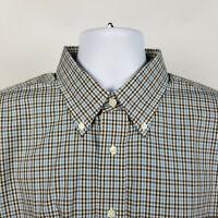 NWT Jos A Bank Executive Blue Brown Check Mens Dress Button Shirt Size Large L