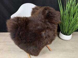 Real Natural Brown Sheepskin Rug Pelt / Genuine Sheepskin Seat Cover Throw Hide
