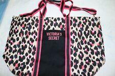 VICTORIA'S SECRET Leopard Weekender Tote Shoulder Bag Large Animal Print Zipper
