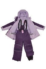 Kids Children Girls Ski/Snow Suit Jacket/Pants Purple Size 3-10 Water/Wind Proof
