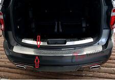 Rear Bumper Protector Scuff Plate Guards Sill Trims for Ford Explorer 2011-2015
