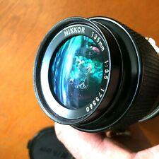 Nikon Nikkor Late Model135mm F3.5 Non AI Mount SLR Prime Lens! Rare! Sharp!!!