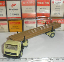 WIKING 20 390 SEMI TRAILER CAMION MERCEDES BENZ TRANSPORTE MADERA SCALE 1:87 HO