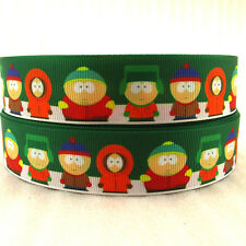 SOUTH PARK 25MM GROSGRAIN RIBBON Craft Bow Sewing CARTMAN KENNY METRE YARD RB13