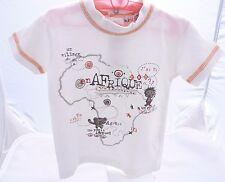mini gang tee-shirt manche courte blanc motif safari  bébé garçon 6 mois