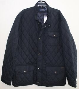 Polo Ralph Lauren Big and Tall Mens Navy Blue Quilted Down Jacket NWT 4XLT