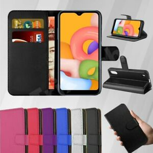 For Samsung A01 Core Phone Case Slim Leather Flip Case Wallet Book Cover