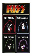 "Rock Music KISS Fabric Cotton Large Craft Panel Quilting Gene Simmons 23"" x 44"""