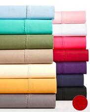 Aq Textiles Devon 4Pc Sheet Set, King Size, Jewel Red - Msrp $190