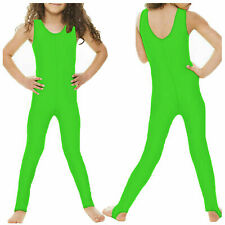 KCS Kids Girls Sleeveless Dance Gymnastics Leotard Stirrup Catsuit