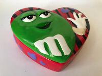 Galerie M&M's Ceramic Valentine Heart-Shaped Green M&M Container