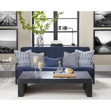 """Futon Mattress 8"""" Tufted Full Size Navy Blue Sleeper Bad Top Home Easy to Clean"""