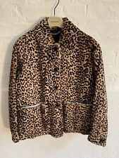 BURBERRY PRORSUM AW15 ANIMAL PRINT SHEARLING FUR JACKET £3495 LEATHER SUEDE COAT