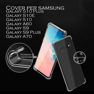 Cover custodia PER Samsung Galaxy S10 Plus, S10E e S10 e A60 e S9 e S9 Plus A70