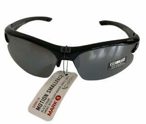 Bliz Motion Sunglasses SMALL FACE Black Frame Smoke Mirror Lens Sports Cycling