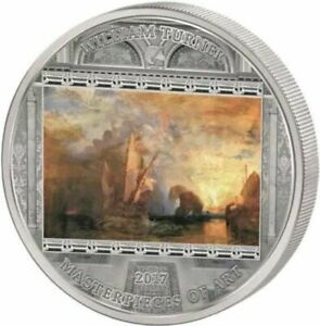 Cook Islands 2017 - Masterpieces of Art - William Turner Ulises silver coin 3 oz