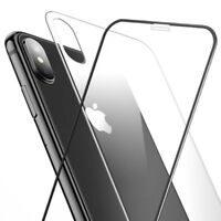 5D Curved Full Coverage Front Rear Tempered Glass Screen Protector For iPhone X