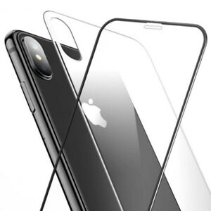 5D Curved Full Coverage Front Back Tempered Glass Screen Protectors For iPhone X