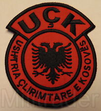 Kosovo Liberation Army Security Force (UCK) Patch (Round) Red/Black