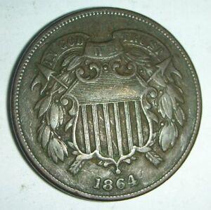 1864 2 Cent Piece Full WE
