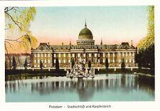 Potsdam , Stadtschloß und Karpfenteich , Ansichtskarte