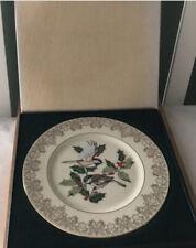Mib Vintage Lenox Garden Bird Chickadee Plate 1988 With Original Box