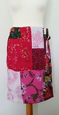 Next Pink Multi Coloured Japanese Floral Style Print Wrap Skirt Size 10