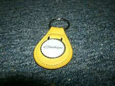 1970 1971 1972 1973 1974 DODGE CHALLENGER VINTAGE LOGO LEATHER KEYCHAIN YELLOW
