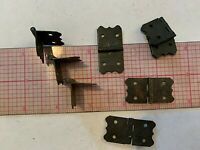 """VINTAGE Black butterfly steel HINGES 1.5"""" x .75""""  New Old Stock 8 pcs"""