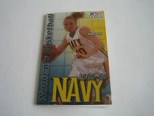 2005/06 NCAA BASKETBALL NAVY WOMENS POCKET SCHEDULE
