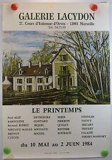 1984 Galerie Lacydon Marseille Bernard Buffet Catoni Etc  AFFICHE ORIGINALE/3PB