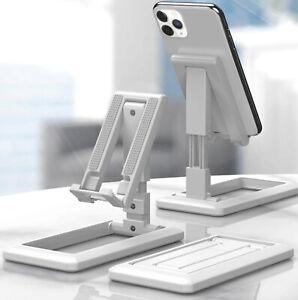 Mobile Phone Tablet Desk Stand Bracket Holder Foldable Adjustable Universal