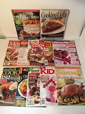 Cooking Recipes Healthy Eating Magazines Lot Of 12 Auction Finds 702