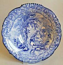 James Kent Fenton Ye Olde Foley Ware Blue Serving Dish Bowl Tureen c1910 :C8