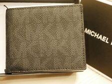 NEW Michael Kors JET SET SLIM BILLFOLD Wallet Men's BLACK MK 86S9LMNF5B $88