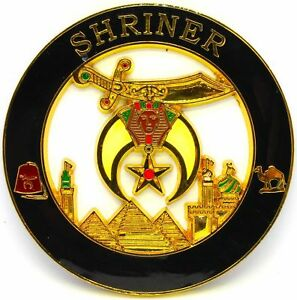 "Masonic Shriners SHRINER MASON REAR Auto Car Emblem 3"""