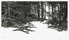 A modern Frank Eckmair woodblock print, pencil signed