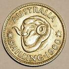 1960 Shilling - Queen Elizabeth II - Average Circulated Condition - 50% Silver