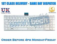 Toshiba Satellite C50 C50D C50-A C50D-A Laptop UK Keyboard With Frame White
